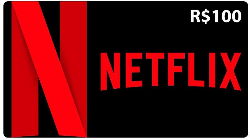 Cartão Netflix Pré-pago R$100