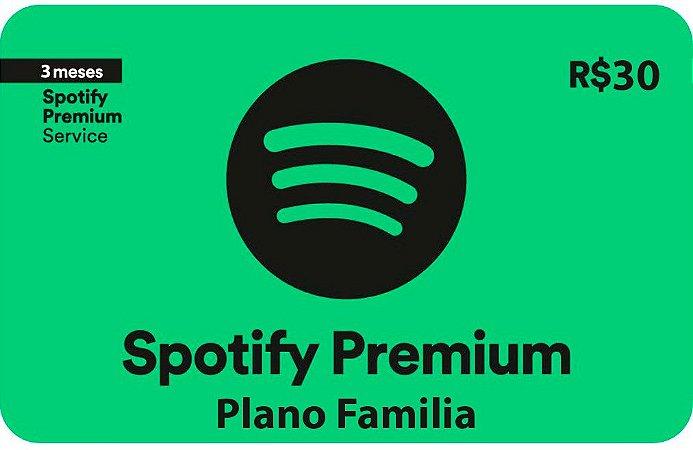 Spotify Premium - 3 meses Plano Familia