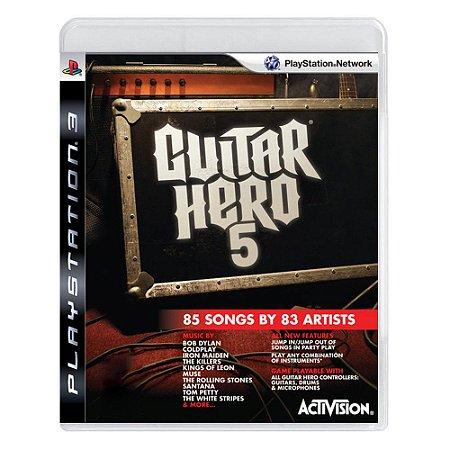 Guitar Hero 5 PS3 - USADO