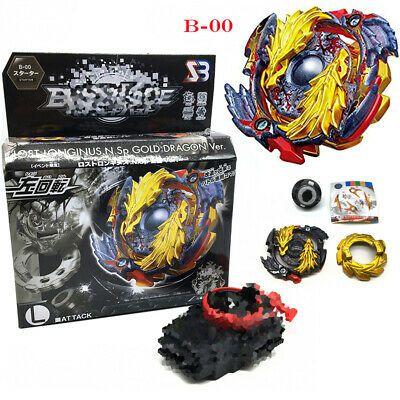 Beyblade Burst Lost Longinus Gold b-00   Com Lançador corda caixa*