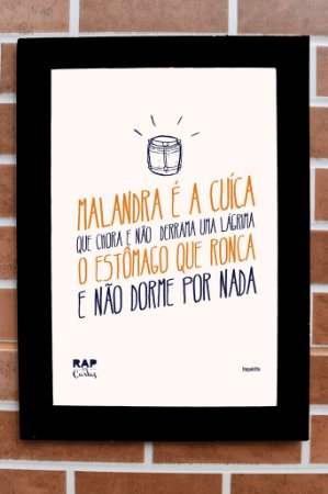 "Quadro ""Malandra É A Cuíca"""