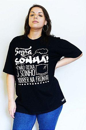 Camiseta Inquérito Preta Sonhos