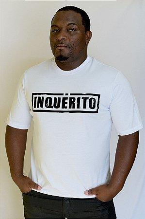 Camiseta Inquérito Branca Carimbo
