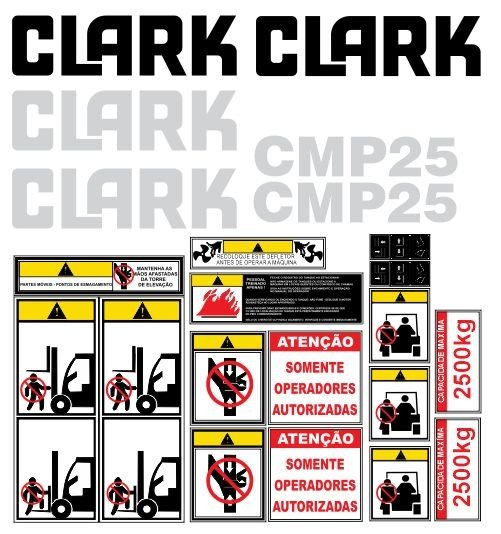 KIT DE ADESIVOS CLARK CPM25