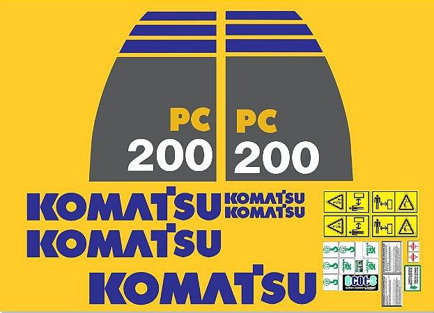 Kit Adesivo Komatsu PC200-8
