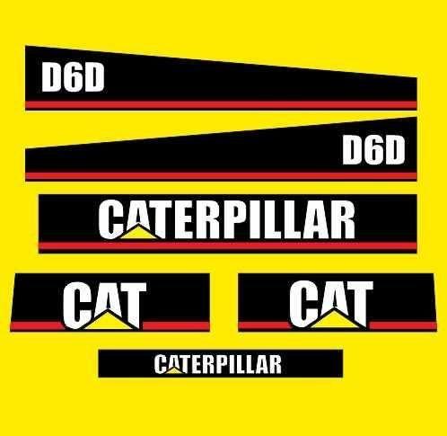 Kit De Adesivos Para Trator Caterpillar D6d
