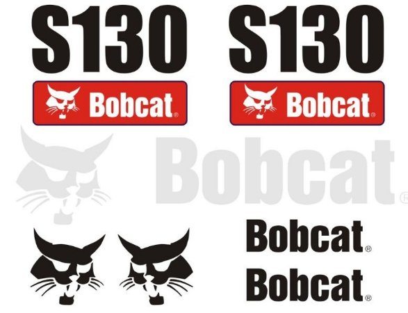 Kit de Adesivos Bobcat S130