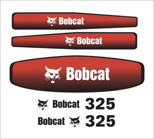 Kit de Adesivos Bobcat 325