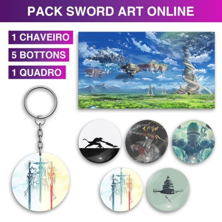 Kit Decoração Sword Art Online