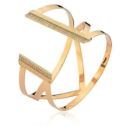 Bracelete Metrópoles Dourado Semi Joias