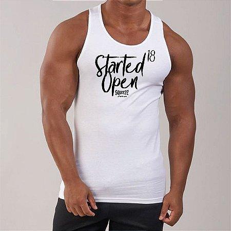 Camiseta Regata - Started Open18 - Masculina Branca