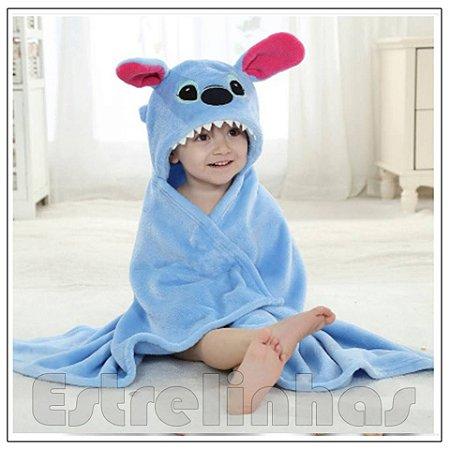 Cobertor c/ Capuz - Stitch