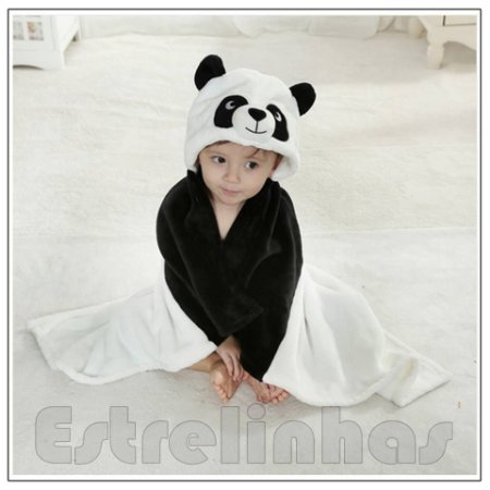 Cobertor c/ Capuz - Panda