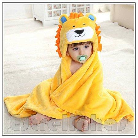 Cobertor c/ Capuz - Leãozinho