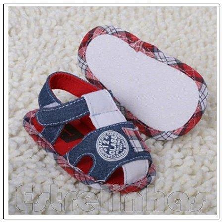 Sandalinha Vermelha/Jeans