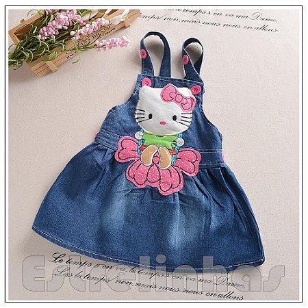 Vestido Jardineira Minha Kitty