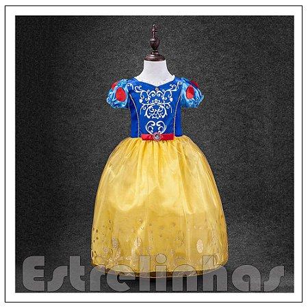Vestido Princesa Branca de Neve