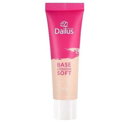 Base Líquida Soft Efeito Matte Cor 02 Nude - Dailus