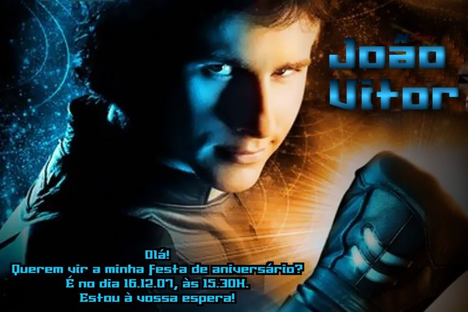 Convite digital personalizado Aaron Stone 001