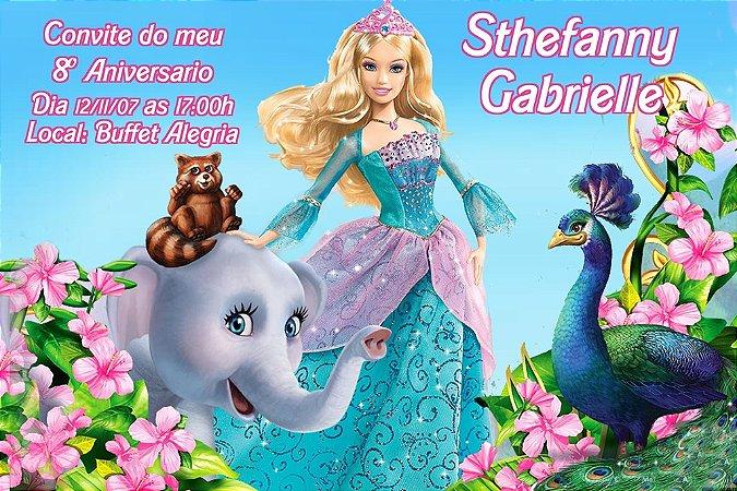 Convite digital personalizado da Barbie 019