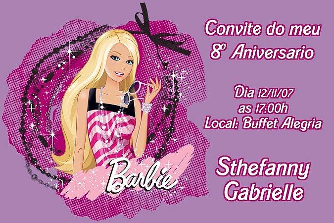 Convite digital personalizado da Barbie 040
