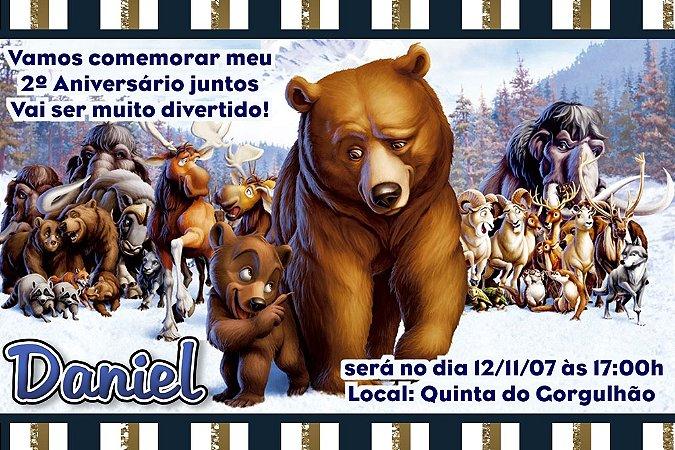 Convite digital personalizado Irmão Urso 001