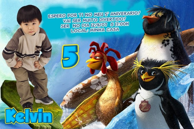 Convite digital personalizado Tá Dando Onda 003