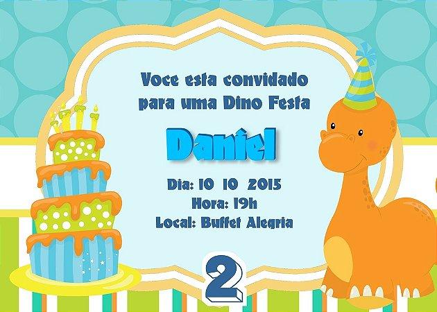Convite digital personalizado Dinossauros 007