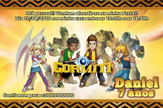 Convite digital personalizado Gormiti - Os Invenciveis Senhores da Natureza 003