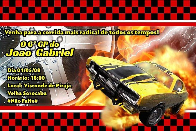 Convite digital personalizado Hot Wheels 001