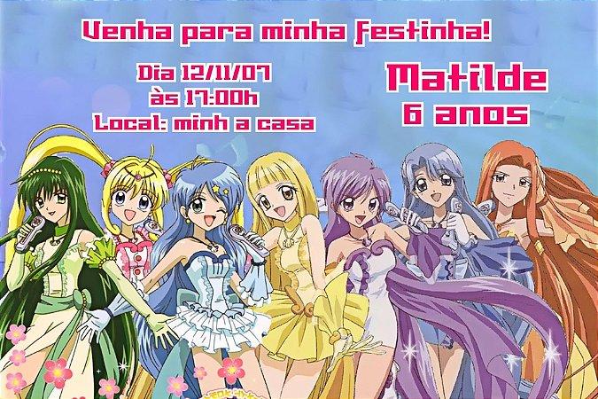 Convite digital personalizado Mermaid Melody Pichi Pichi Pitch 001