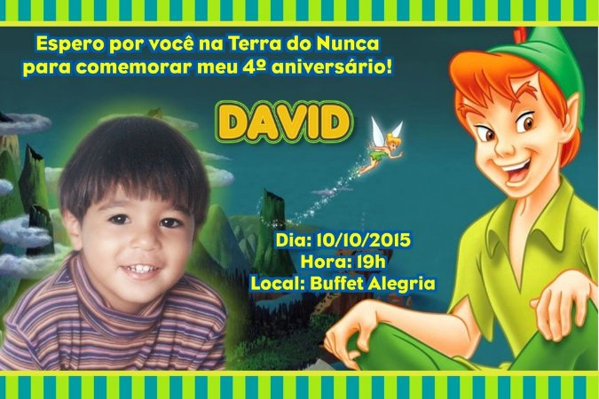 Convite digital personalizado Peter Pan 001