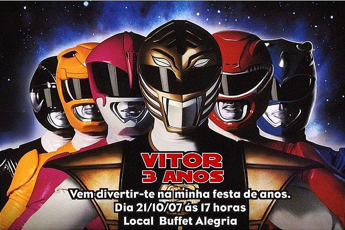 Convite digital personalizado Power Rangers 003