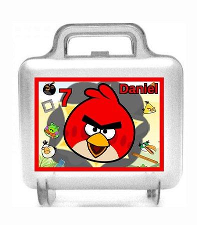 Maletinha acrílica personalizada Angry Birds