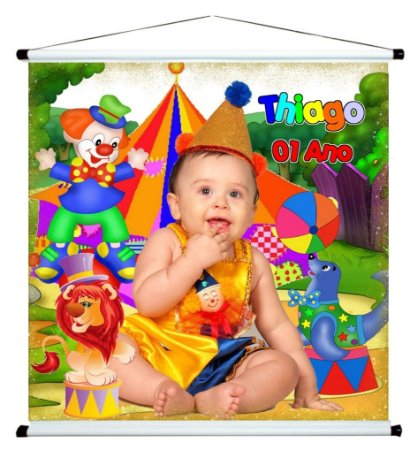 Banner personalizado 1 m x 1 m Circo 003