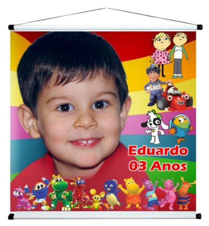 Banner personalizado 1 m x 1 m Discovery Kids 001