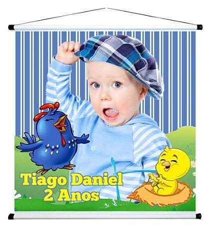 Banner personalizado 1 m x 1 m Galinha Pintadinha 001