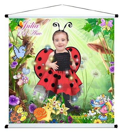 Banner personalizado 1 m x 1 m High Jardim Encantado 001