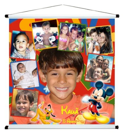 Banner personalizado 1 m x 1 m Mickey Mouse 001