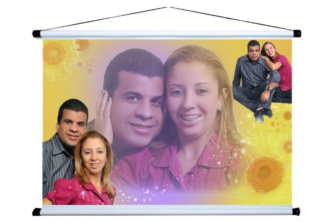 Banner personalizado 1,50 m x 1m Casamento 001