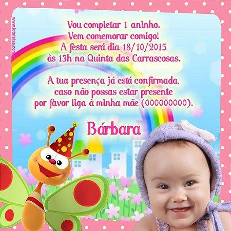 Convite digital personalizado Baby TV 038