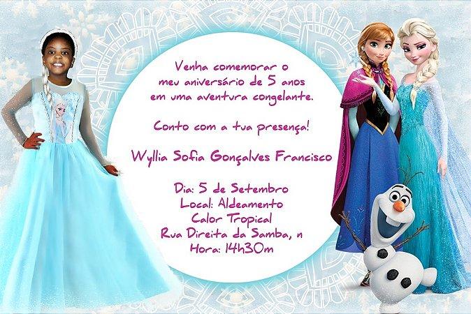 Convite digital personalizado Frozen 013