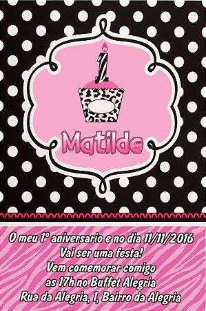 Convite digital personalizado Primeiro Aniversário 016