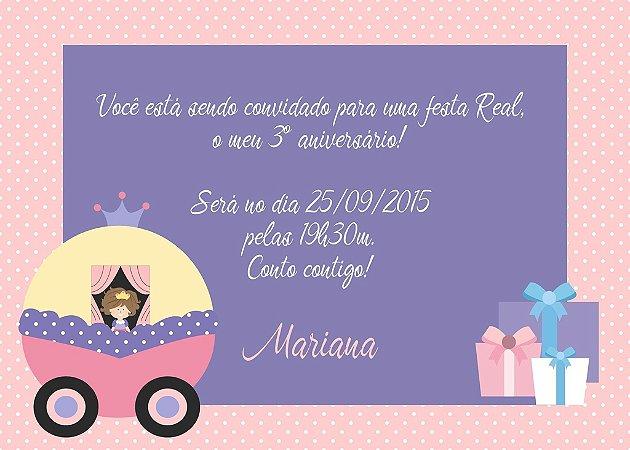 Convite digital personalizado Princesa 008