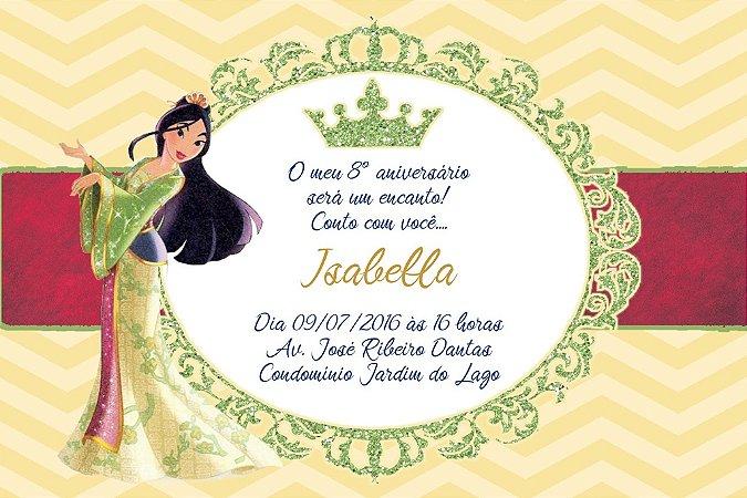 Convite digital personalizado Mulan Royal Party 018