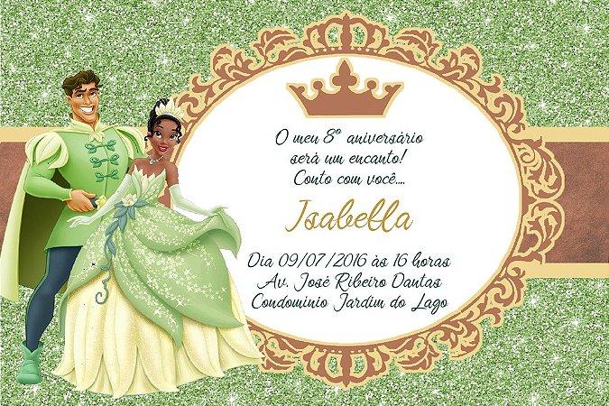 Convite digital personalizado A Princesa e o Sapo Royal Party 024