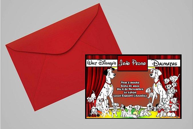 Convite 10x15 101 Dálmatas 001