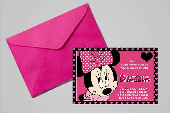 Convite 10x15 Minnie 010