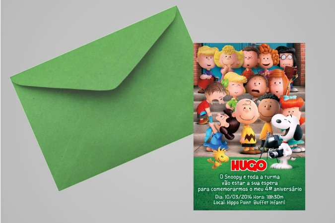 Convite 10x15 Snoopy e Charlie Brown 003