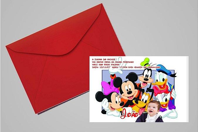 Convite 10x15 Turma do Mickey 001 com foto
